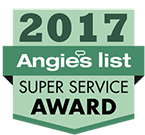 2017 Angies List super service award for HVAC.