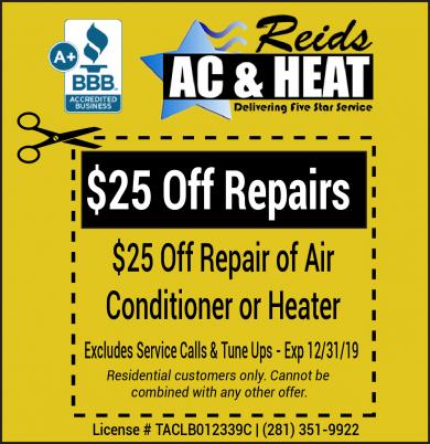 Heater Repair Coupon