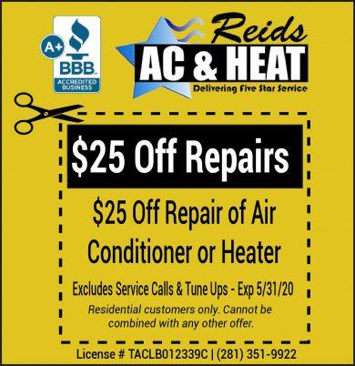 Air Conditioning Repair Coupon