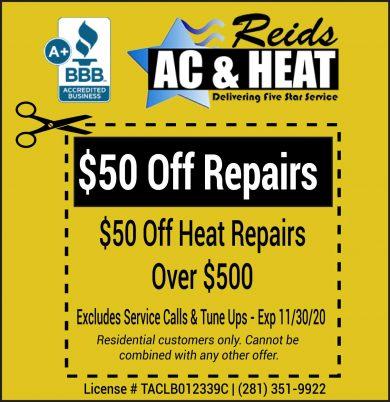 Heating System Repair Coupon